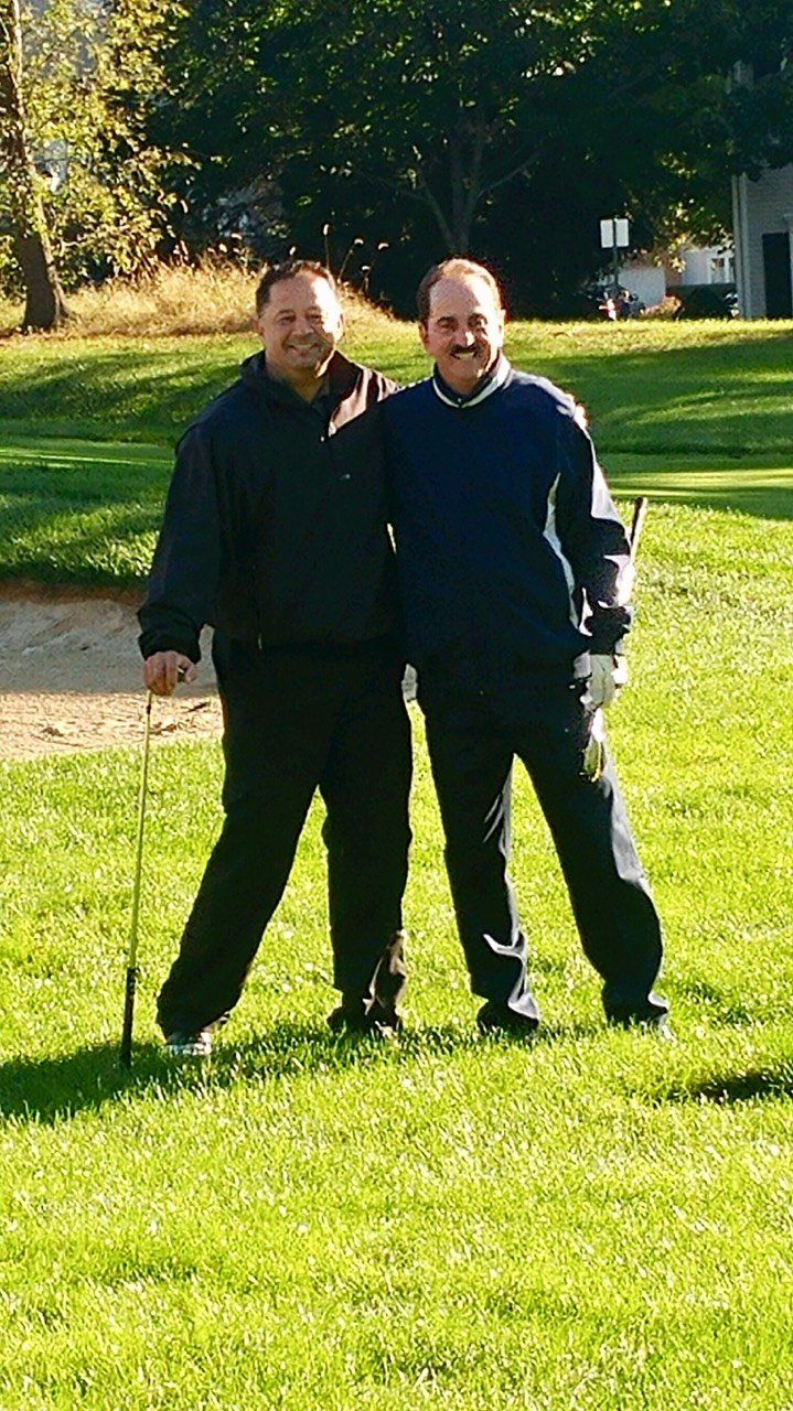 Former MLB standout, John Valentin(left) with playing partner, Rich Vitaliano, former coach at Wagner