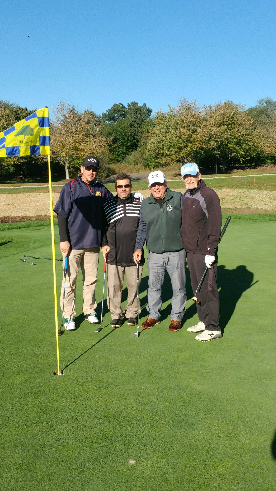 Looking determined, Team Frontera takes to the links (from left), Chad Frontera, Bill Tigar, Roger Frontera and Joe Manzo