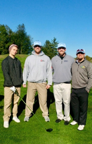 A team with attitude, (left to right) Max Godfrey, Tommy Guinta, Tyler Brown and Brendon Frontera