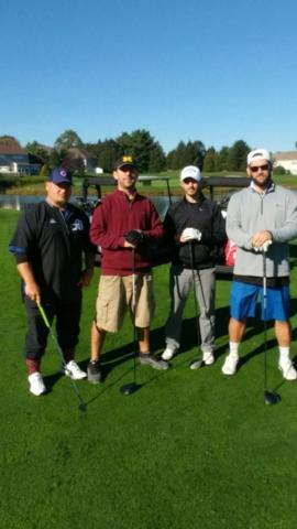 Left to right) Glenn Fredricks, Ryan Hutchinson, Nick McKee and Mystery Guest.
